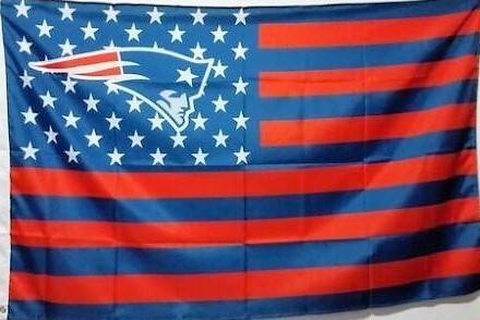 NFL New England Patriots Stars & Stripes 3'x5' Indoor/Outdoor Team Nation Flag