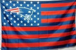 NFL New England Patriots Stars & Stripes 3'x5' Indoor/Outdoor Team Natio... - $9.99