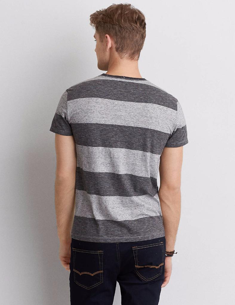 American Eagle Outfitters AEO Stripe Crew T-Shirt Tee