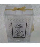 CANDLE HOLDER GIFT SET 5pc Live Love Laugh Glass Candleholder Vanilla Vo... - $12.99