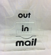 "Mail Organizer Strong Acrylic "" In/ Out/ Mail - $8.99"