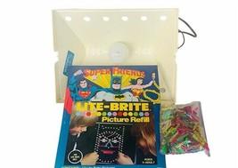 Super Friends Lite Brite 1980 Vtg Batman Superman Wonder Woman Hasbro refill DC - $197.95
