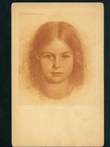 M123063 / 31188 GERMANY Art WALTER SCHACHINGER - PORTRAIT LITTLE GIRL pc... - $9.00