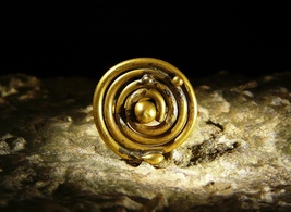 Ancient Magick Druid Ring of the 9 Elements Bronze Spiral Vessel izida haunted - $303.00