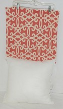 Split P Amelia 2505054CVR Red White Zippered  Cover 18 Inch Polyester Pillow image 2