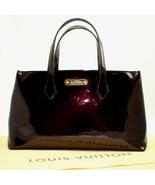 "LOUIS VUITTON Wilshire ""Amarante"" Monogram Vernis PM Handbag - $638.00"