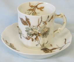 Haviland Limoges France Floral Rosed Vintage Cup & Saucer Demitasse - $39.49