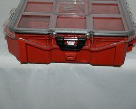 Milwaukee 48228030 Job Site Organizer Weather Seal 10 Bins Red Clear Lid Box image 3