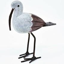 Handmade Serpentine Stone Recycled Metal African Stork Bird Sculpture Zimbabwe image 2