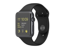 APPLE WATCH SERIES 1 42MM MJ3T2LL/A ALUMINUM SPACE GRAY CASE BLACK BAND !! - $229.00