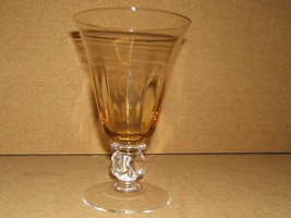 Designer Water Glass Short Stem 7in x 4in x 4in Yellow/Clear Classic - $9.01