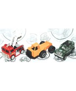 3 LOT - TWO PULL BACK VEHICLES & ONE REGULAR CONSTRUCTION DUMP TRUCK USED - $14.40