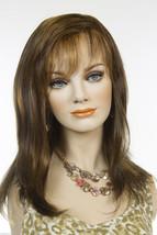 Nat Golden Brown & Med Red Gold Blond Highlt & Tip Blonde Long Medium Wigs - $134.64