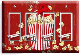 Pop Corn Tv Room Home Movie Theater Rustic 4 Gang Gfci Light Switch Plates Decor - $19.79