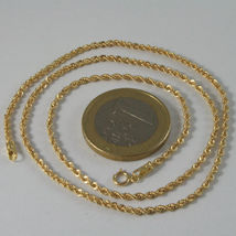 18K GOLD ROPE CHAIN, BRAID ROPE CORD, NECKLACE MADE IN ITALY, 18KT BRIGHT SHINY image 4