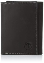 Timberland Men's Leather Trifold Wallet Black D77221/08 NEW WITH SCRATCHES
