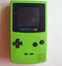 Game Boy Color Kiwi Green Handheld System  NEW SCREEN COVER AND SPEAKER - $39.67