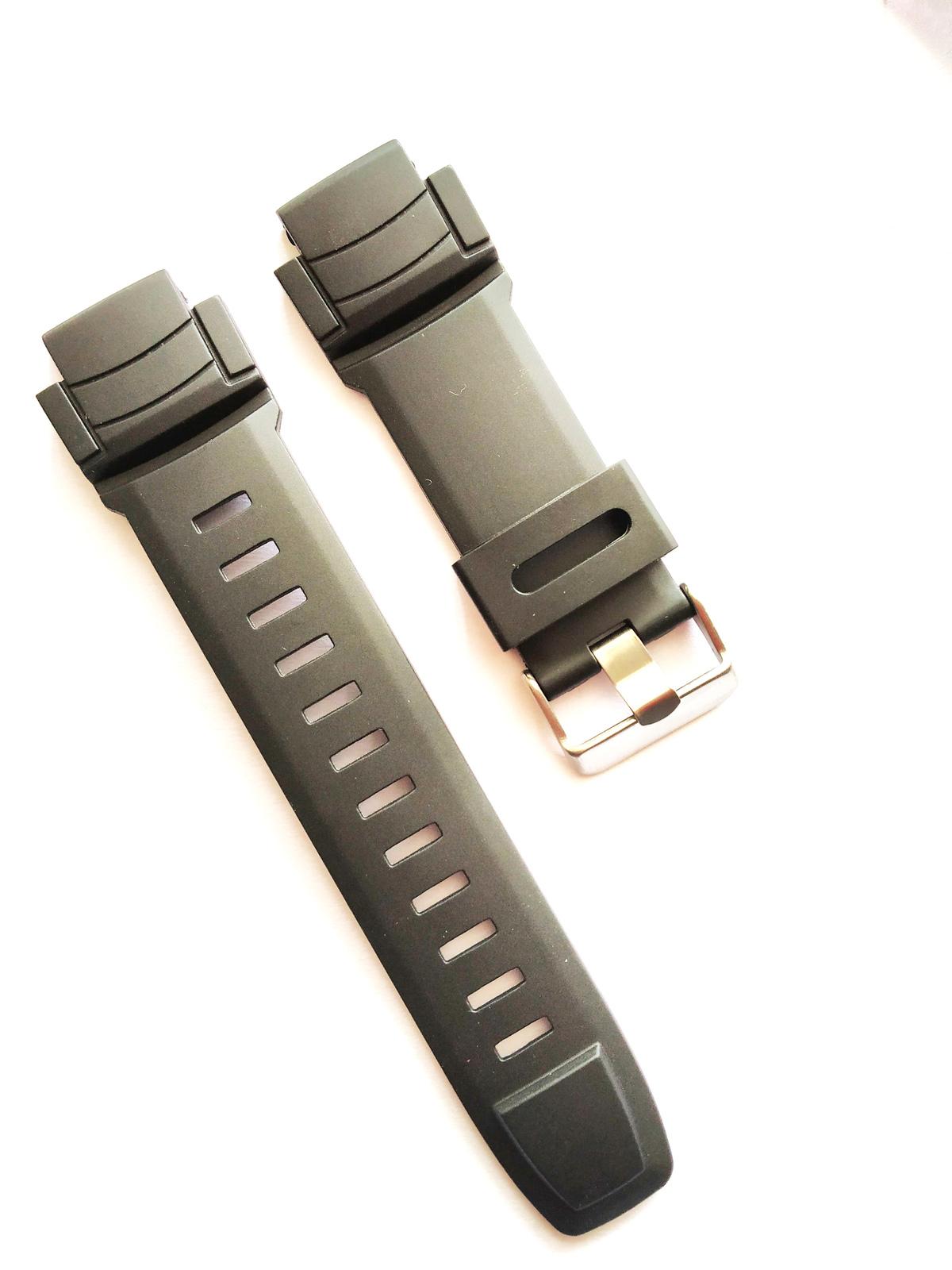 New Genuine Casio Pro Trek Black Resin Replacement Strap PRW-2000-1 PRG-200-1