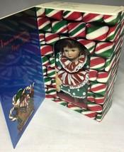 Marie Osmond Fine Porcelain Mini Christmas Greeting Card Doll Knickerboc... - $12.69
