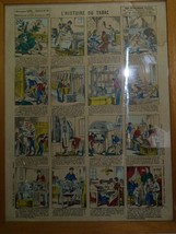 Antique French Historic Industry Lithographic Poster L'Histoire du Tabac... - $181.30