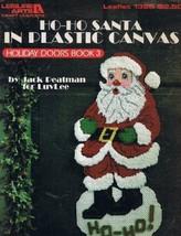 Ho-Ho Santa in Plastic Canvas : Holiday Doors Book 3 (Leisure Arts Leafl... - $6.93