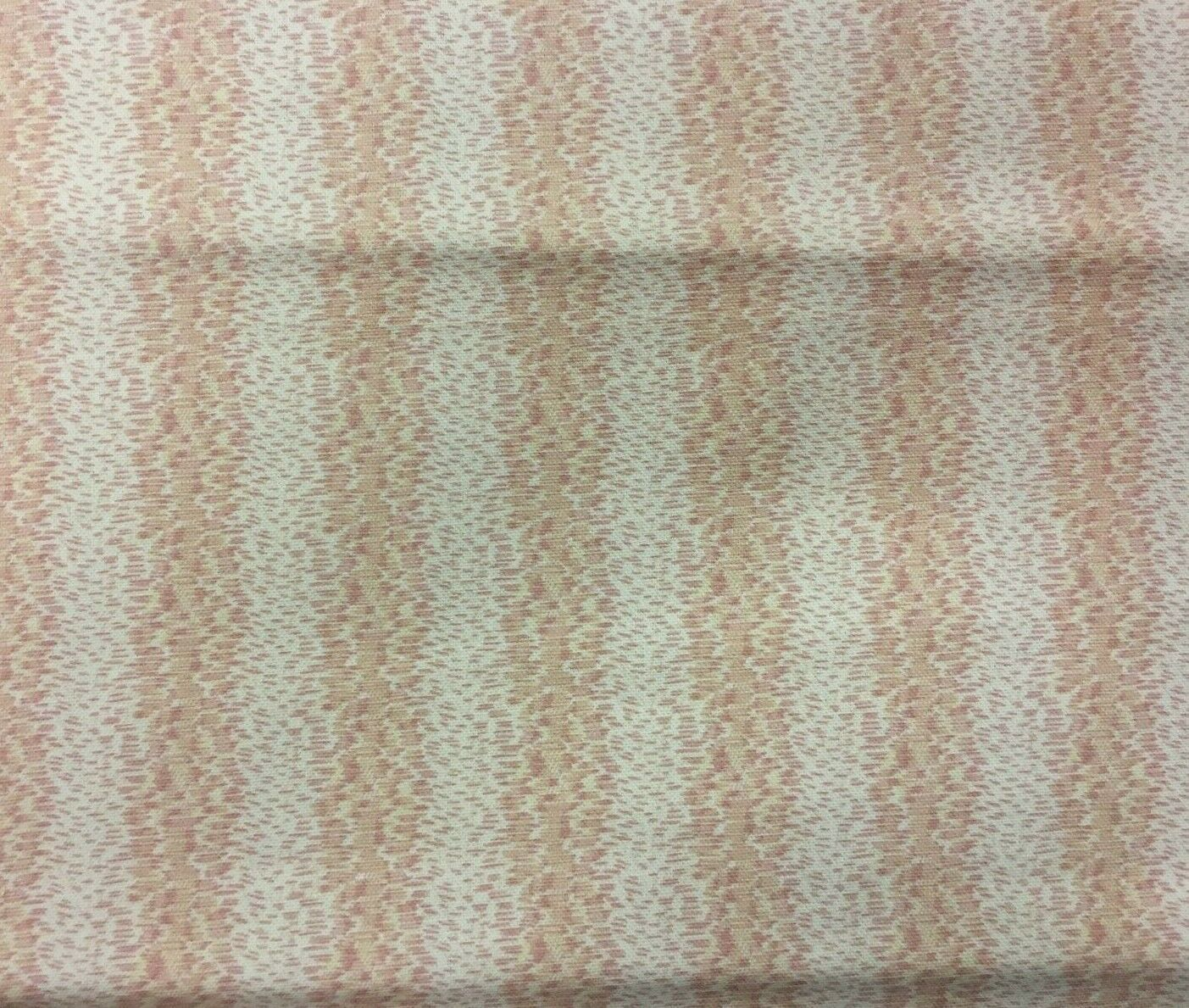 Braemore Pink and Cream Abstract Stripe Upholstery Drapery Fabric 3.25 yds