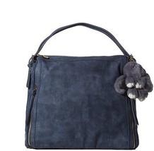 Handbag Republic Hobo Style Bag New Vegan Leather Zipper Purse With Cut... - $76.68