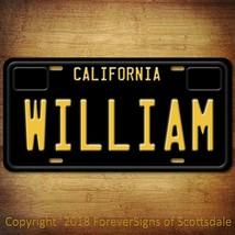 William California Name License Plate Aluminum Vanity Tag - $16.82