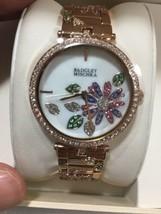 Badgley Mischka Rose Gold Tone Flower Women's Watch - New! - $43.56
