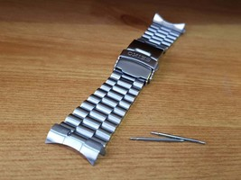 22mm Seiko gents watch stainless steel bracelet with curve lugs end piec... - £19.28 GBP