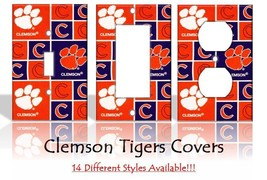 Clemson Tigers #2 Light Switch Covers Football NCAA Home Decor Outlet - $8.90+