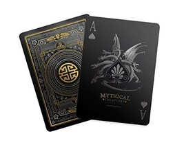 Gent Supply Mythical Creatures - Black Silver & Gold Edition Playing Cards - $23.34