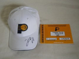 Indiana Pacers Thaddeus Young Autographed Hat with Certificate - £9.92 GBP