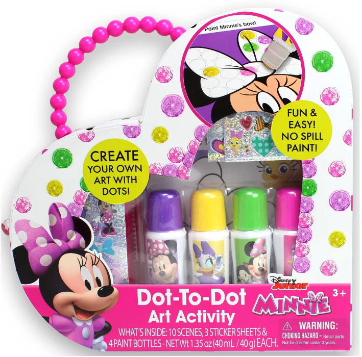 NEW Disney Junior Minnie Mouse Dot to Dot Sticker Paint Art Activity Kit Ages 3+