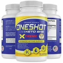 Keto One Shot Weight Loss Pills Supplement Keto Diet Fat Burner 90 Capsu... - $38.78
