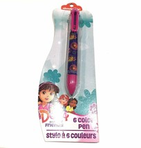 Nickelodeon Dora and Friends 6 COLOR Ball Point Ink Pen  - NEW
