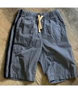 Childrens Place Cotton Twill Shorts 12 Boys Blue Pockets Drawstring Elas... - $7.70