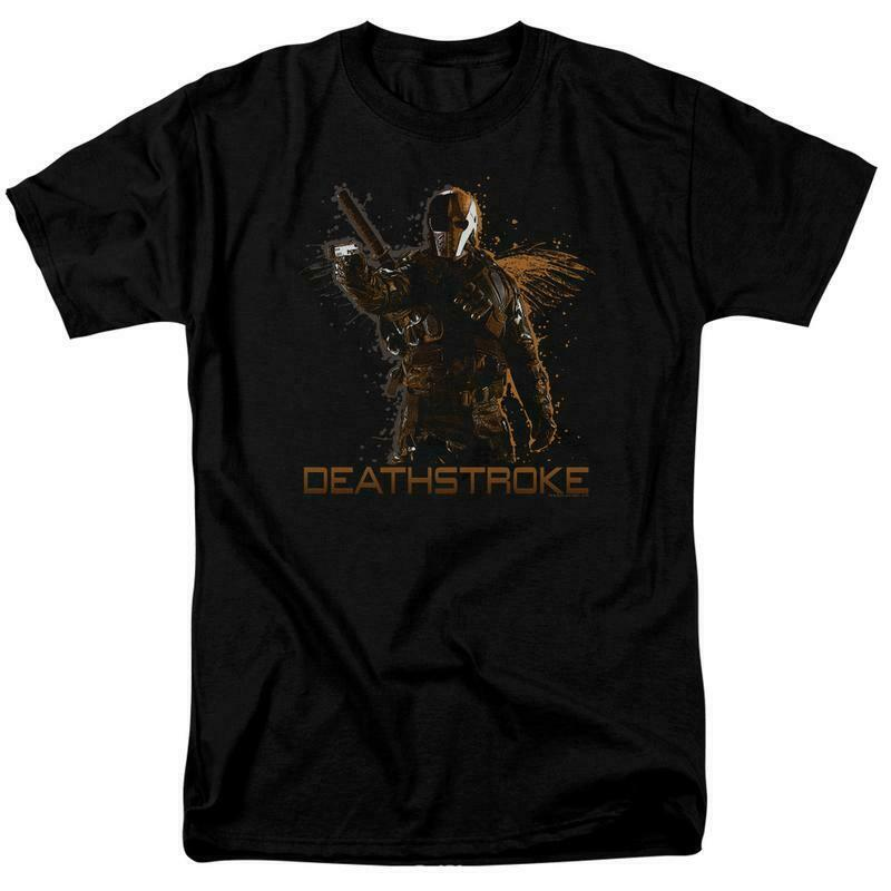 Deathstroke t shirt green arrow dc comics tv show superhero villain graphic tee