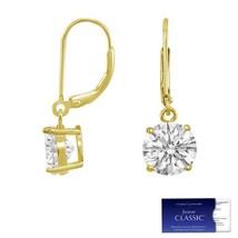 1.00 Carat Moissanite Forever Classic Dangle Earrings 14k Gold (Charles&Colvard)