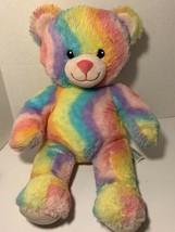 """Build A Bear Plush Rainbow Wavy Stripes 17"""" Teddy Bear Colorful - $19.99"""