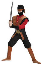 Ninja Warrior Muscle 10-12 Child Boys Costume - $34.25