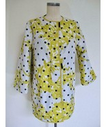 Mycra Pac One Reversible Raincoat 0 P Small Black White Dots Yellow Floral - $29.99