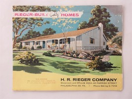 vintage RIEGER CO HOME BUILDING PLANS and PRICES frazer malver pa catalo... - $34.95