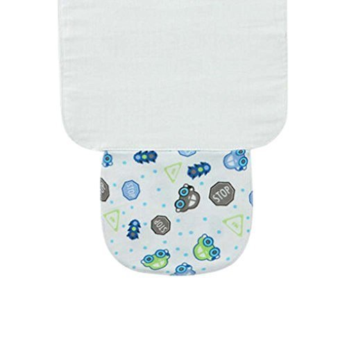 Set of 3 Sweat Absorbent Towels for Baby with Cute Cartoon Pattern, S