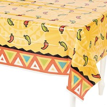 "Southwest Chilies Tablecloth (54"" X 108"") Plastic - $6.64"