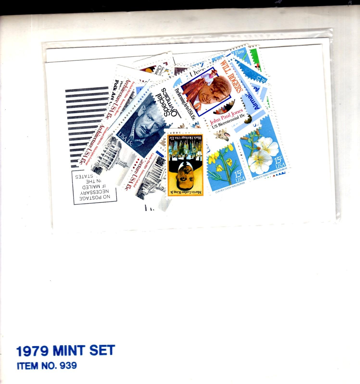 USPS Stamps - 1979 USPS Mint Set of Commemorative Stamps - UNOPENNED