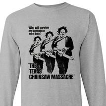 Texas Chainsaw Massacre long sleeve t-shirt retro horror movie graphic tee shirt image 2