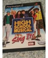High School Musical sing it PlayStation 2 - $7.50