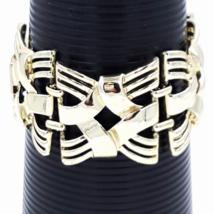 Coro Gold Basket Weave Bracelet, Mid Century Vintage  - $17.00