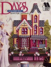 Days Gone By Perpetual Calendar Victorian Mansion Plastic Canvas PATTERN... - $7.17